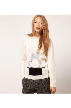$33.99 Cute Rabbit Magician Hat Loose Sweater @ MayKool.com