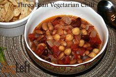 Three Bean Vegetarian Chili – Food Bloggers Support For Sandy  #FBS4Sandy