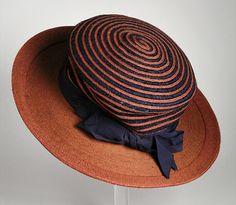 Woman's Hat M. & R. Company (United States) United States, circa 1916 #millinery #judithm #straw