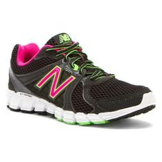 Womens New Balance Shoes W750v2 Black Green