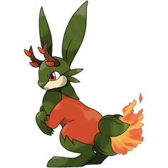 Scovalope is a dual-type Grass/Fire Pokémon. It evolves from Hoppanero when exposed to a Fire Stone or a Leaf Stone. It is the final form of Peppit.