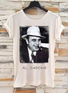 Al Capone Movie T-shirt / Fashion Digital Print T-shirt / All sizes Tank Top / Gangster Shirt by Eugoriashop