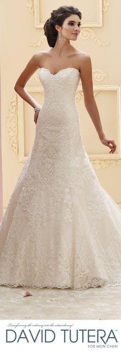 The David Tutera for Mon Cheri Fall 2015 Wedding Gown Collection - Style No. 215265 Katharine davidtuteraformoncheri.com