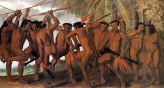 Albert Eckhout Tarairiu Dancers Netherlands/Dutch Brazil (c. Oil on Canvas, 172 × 295 cm. National Museum of Denmark Ancient World History, Art History, Albert Eckhout, Dream Pictures, Dance Paintings, Indigenous Tribes, High Art, Native American History, National Museum