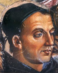 Posthumous portrait of Fra Angelico, 1395-1455, by Luca Signorelli