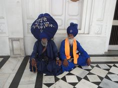 Sikhs at the Golden Temple in Amritsar.