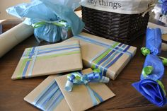 Baby gift wrap inspired by Pinterest!