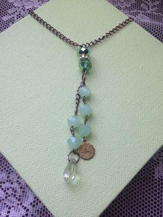 Leo astrology peridot jade necklace on Etsy, $32.00