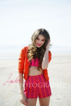 Color blocking with pink and orange. Photography: Amber Shaw Photography  MUA: DC Makeup  Hair: Kylie DeMann
