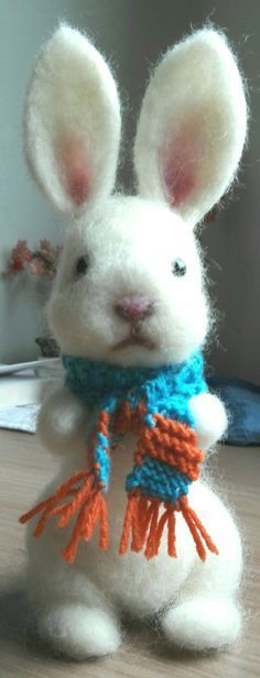 Bunny needle felting #needlefeltingtutorials