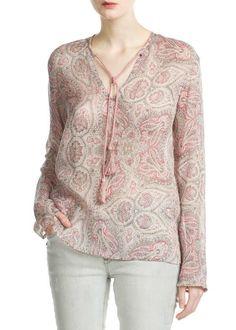 2014 design mulheres marca de moda estampas florais blusa chiffon estilo europeu senhoras v pescoço camisas sexy casual feminino ymyx 01 em ...