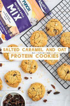 Protein Cookie Recipe, Protein Cookies, Cookie Recipes, Vegan Snacks, Easy Snacks, Best Biscuit Recipe, Healthy Biscuits, Sleepover Food, Healthy Brunch