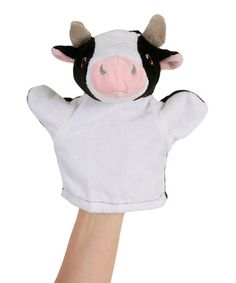 Take a look at this Cow Plush Hand Puppet by The Puppet Company on #zulily today!7