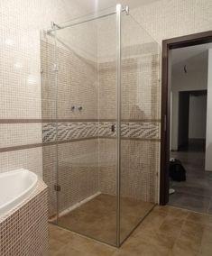 sklenený sprchovací kút s otočnými dverami v bezrámovom prevedení Alcove, Divider, Bathtub, Bathroom, Box, Furniture, Home Decor, Standing Bath, Washroom
