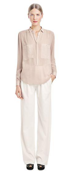 Poly Crepe Pull On Shirt - Blouses - Shop Woman - Filippa K