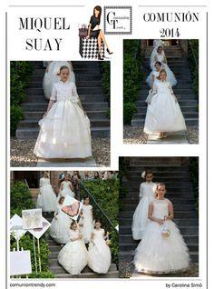 MIQUEL SUAY en Moda Infantil con vestidos de Comunión 2014   COMUNIÓN TRENDY :: Mil ideas para organizar una Primera Comunión :: Vestidos de comunión, Recordatorios, Trajes de Comunión