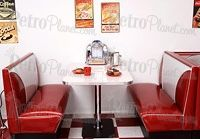 Diner Booth Set Elite Style-this is what I'll go by to paint my restaurant booth for my back porch diner.  Who doesn't love retro?