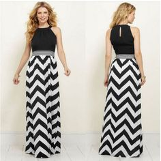 Summer Striped Long Maxi Sundress Ladies - Fassion ME