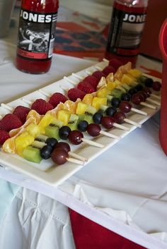 Fruit Skewers! I have been telling Eric, that I wanted some of these, but I want to grill them..These would be great just like this!