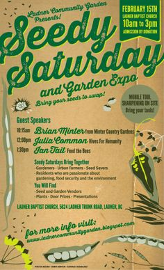 Ladner Community Garden: Ladner Seedy Saturday is Here!