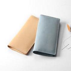 Handmade Leather Long Wallet Personalized Monogrammed Gift Custom Women Clutch Cute Wallet Purse