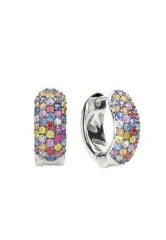 Balissima Splash Multi Sapphire Earrings, 2.25 TCW