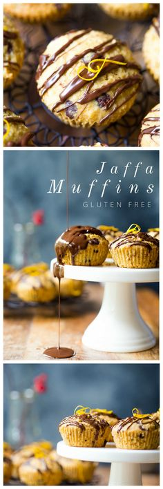 Gluten free chocolate and orange flavoured muffins. Bringing back the old school jaffa in a new decadent and delicious way! | wholesomepatisserie.com #glutenfree #jaffa #chocolate