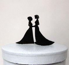 Wedding Cake Topper - same sex wedding, gay wedding, lesbian wedding
