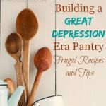 Podcast #39 Building a Great Depression Era Pantry  Great tips and recipes to save money on groceries.
