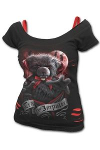 Spiral - T-Shirt mit Schlitzen & Trägern - Ted the Impaler