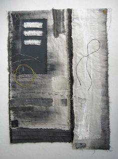 """""""Rift"""" by Gizella K Warburton #fiber_art #textile_collage"""