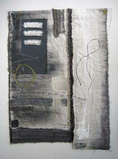 """Rift"" by Gizella K Warburton #fiber_art #textile_collage"