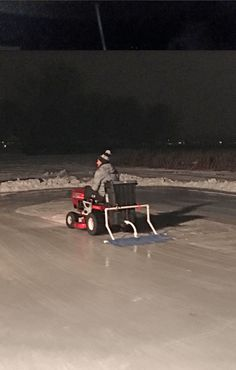 zamboni DIY ice hockey. Might not shave the ice down but hey it's a good idea