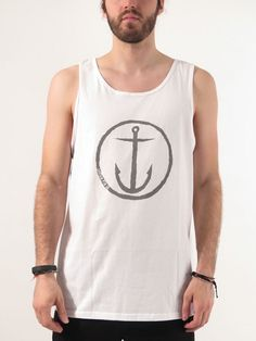 0407ce273a3679 Original Anchor Tank Top for men by Captain Fin Anchor Tank Top