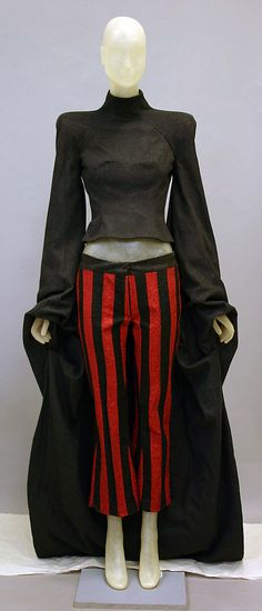 Alexander McQueen (British, 1969–2010). Ensemble, fall/winter 1998–99. British. The Metropolitan Museum of Art, New York. Gift of Madonna, 2010 (2010.208.2a, b) #punkfashion