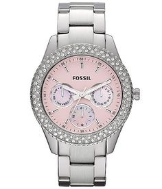 fossil watch with color rhinestones | Fossil Stella Watch - Women's Watches | Buckle