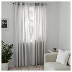 MAJGULL Block-out curtains, 1 pair, grey, cm. With block-out curtains you won't get your sleep disturbed by moonlight and street lights - or be woken by the sun when you want to sleep in late. Ikea Curtains, Living Room Decor Curtains, Room Darkening Curtains, Curtains With Blinds, Panel Curtains, Bedroom Decor, Gray Curtains, Curtains With Hooks, Bedroom Furniture