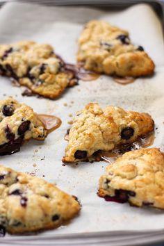 Blueberry Scones with Maple Glaze - Willow Bird Baking > Willow Bird Baking