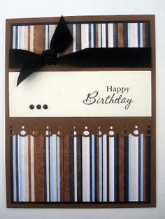 Handmade Happy Birthday card for male