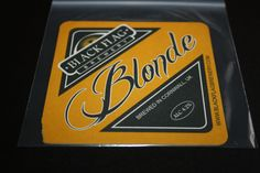 BLONDE (2013) | Black Flag Brewery | Cornwall: Beer mat     ✫ღ⊰n