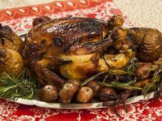 Pollo de campo asado