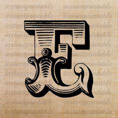 Monogram Initial Letter E Letter Clip Art by InstantPrintable