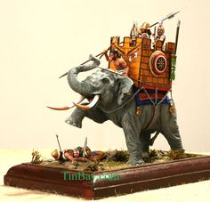 War Elephant. Diorama. lead soldiers, toy soldiers, historical miniatures