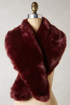 Faux-Fur Stole - anthropologie.com  to go over the wedding gown?! or with bridesmaid gowns?