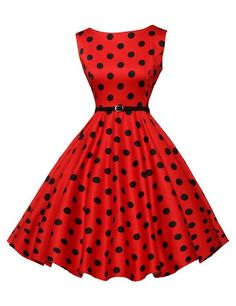 awesome Sleeveless Cotton Rockabilly Tea Dress with Belt VL6086 (Multi-Colored) Check more at http://shipperscentral.com/wp/product/sleeveless-cotton-rockabilly-tea-dress-with-belt-vl6086-multi-colored-2/