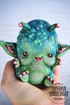 Mliiglepp Blggp - art doll ooak pure sculpt little martian alien doll space creature visitor pet mascot fantasy art creatures