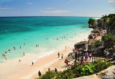 The beach next to the Mayan Ruins in Tulum (Riviera Maya) - Mexico