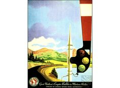 Montana Empire Builders 1950 Great Northern Railroad Vintage Poster Retro Art Print Train Travel Advertisement Free US Post Low Euro Post by VintagePosterPrints on Etsy