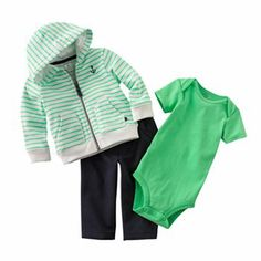 Carter's Striped Hoodie Set - Baby