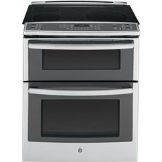 """GE PS950SFSS 30"""" 6.6 cu. ft. Capacity Slide-In Double Oven Electric Range In Stainless Steel, 2016 Amazon Most Gifted Wall Ovens  #MajorAppliances"""